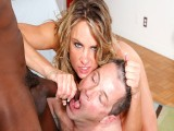 Amanda Blow and Her Cuck Hubby Share a Facial